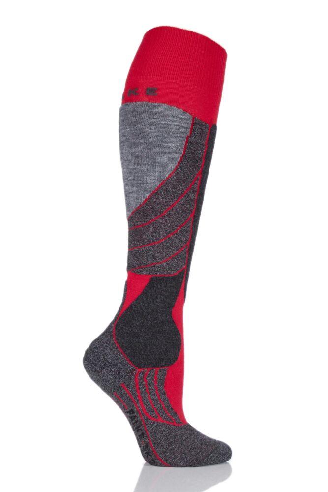 Ladies 1 Pair Falke Medium Volume Wool Ski Socks