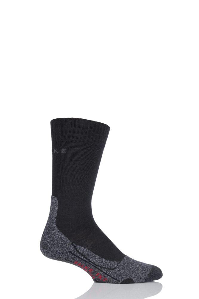 Mens 1 Pair Falke Medium Volume Ergonomic Cushioned Trekking Socks
