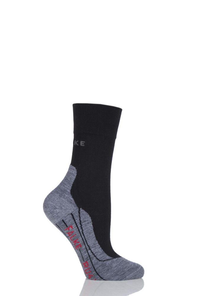 Ladies 1 Pair Falke Light Volume Ergonomic Cushioned Crew Running Socks