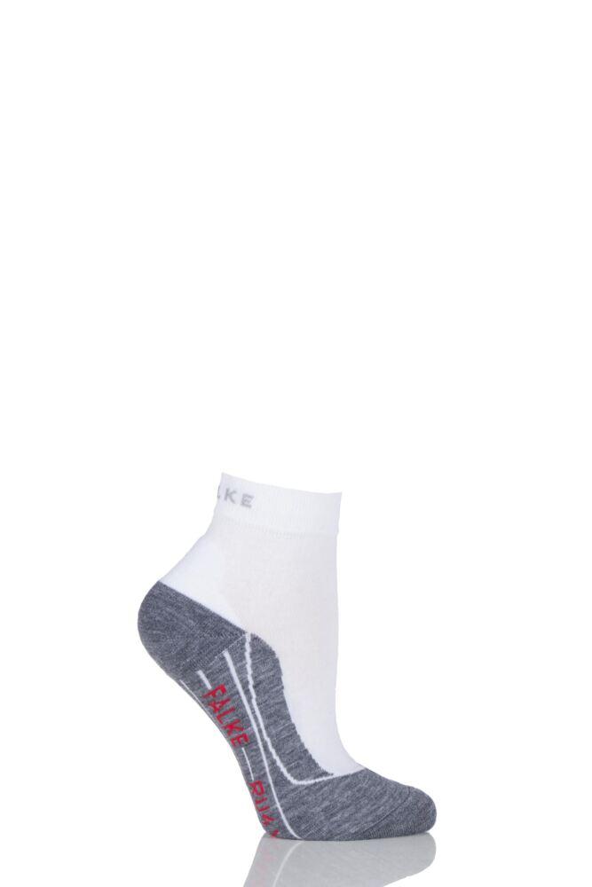 Ladies 1 Pair Falke Light Volume Ergonomic Cushioned Short Running Socks