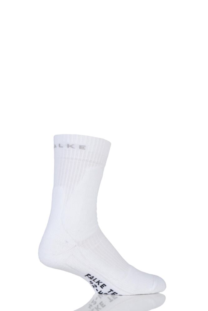 Mens 1 Pair Falke Medium Volume Ergonomic Cushioned Tennis Socks