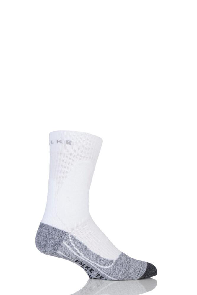 Mens 1 Pair Falke Medium Volume Ergonomic Cushioned Tennis Socks