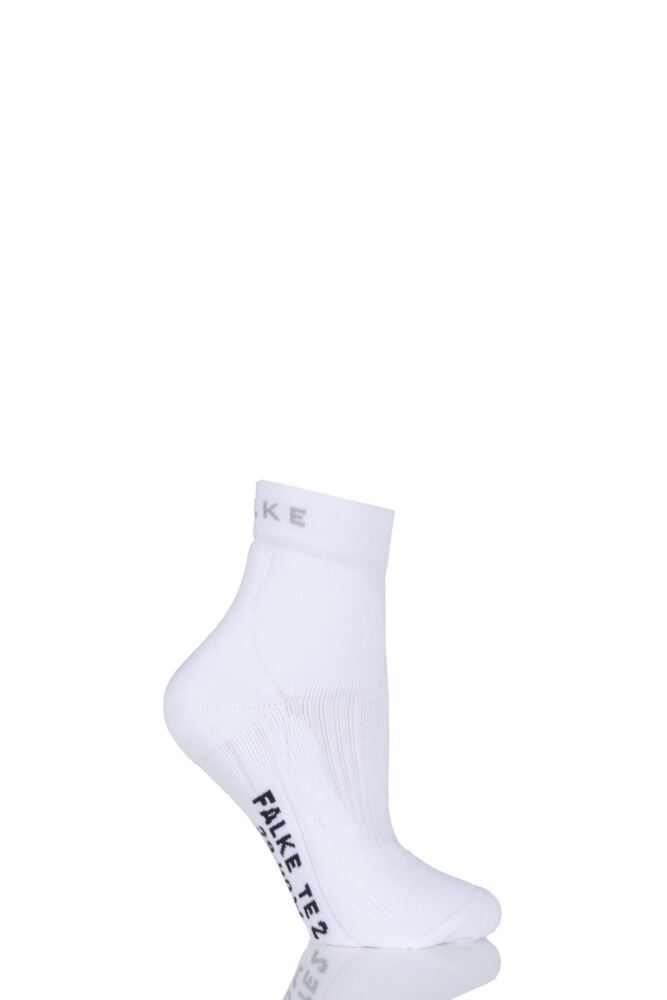 Ladies 1 Pair Falke Medium Volume Ergonomic Cushioned Short Tennis Socks