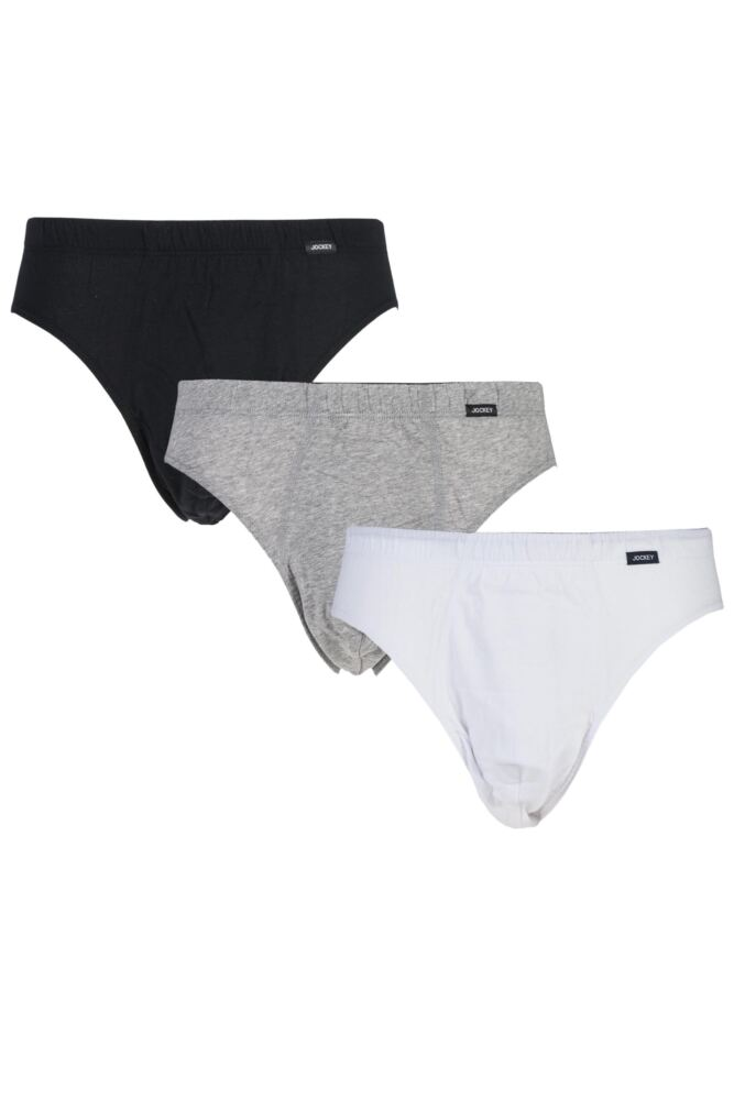 Mens 3 Pair Jockey Active Cotton Briefs