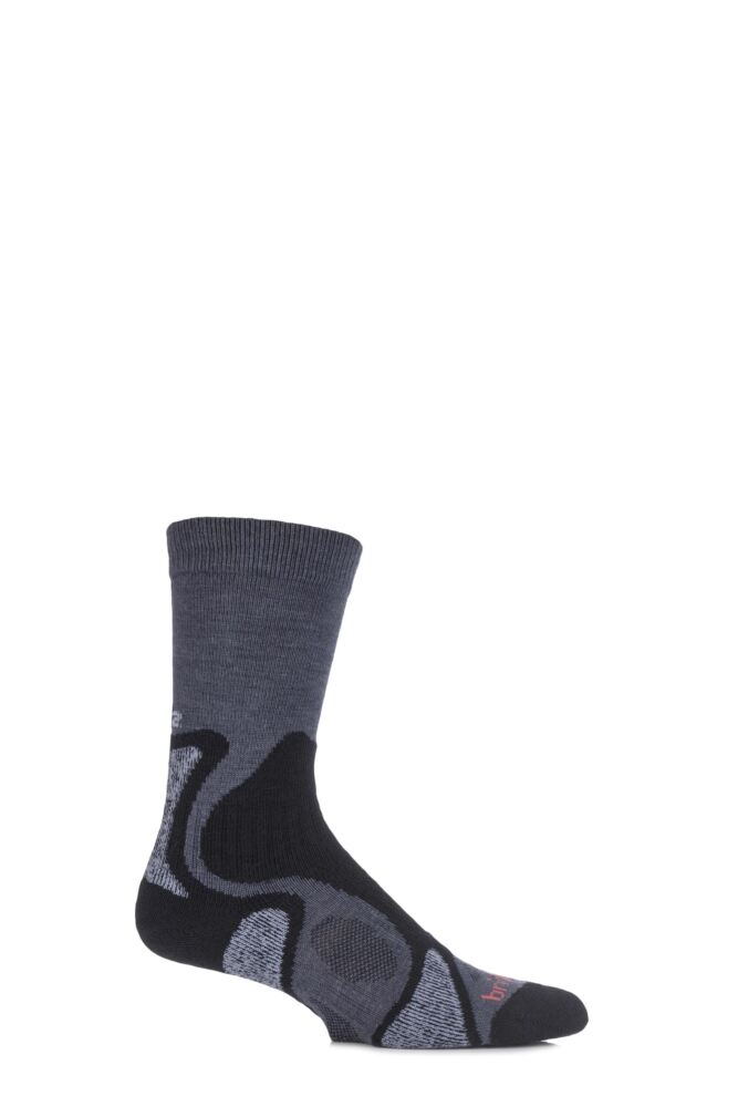 Mens 1 Pair Bridgedale X-Hale Trailblaze Socks With Impact And Protective Padding