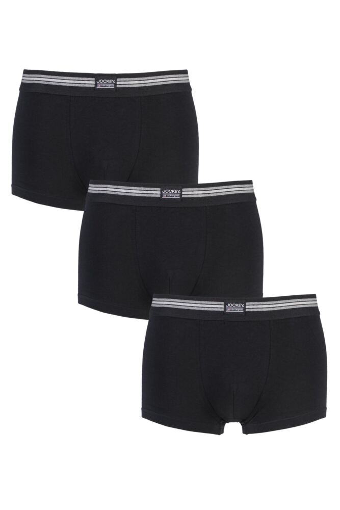 Mens 3 Pack Jockey Cotton Stretch Short Trunks