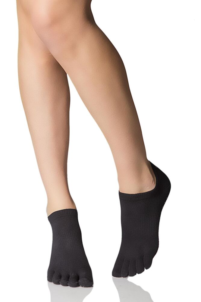 Mens and Ladies 1 Pair ToeSox Full Toe Organic Cotton Low Rise Yoga Socks