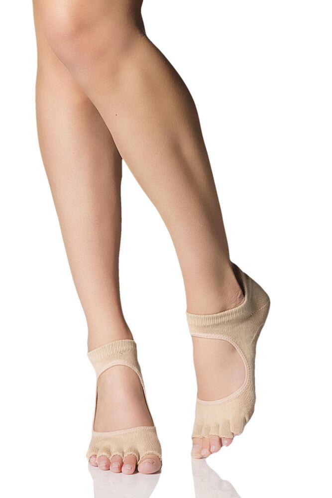 Ladies 1 Pair ToeSox Prima Half Toe Open Foot Dance Ballet Socks