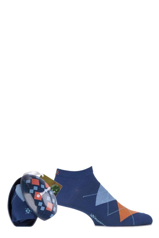 Mens 1 Pair Burlington Easter Egg Gift Boxed Sneaker Socks 25% OFF