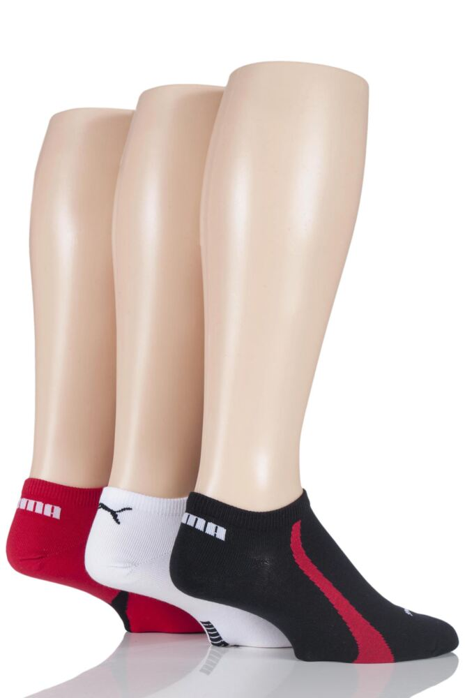 Mens and Ladies 3 Pair Puma Ring Sneaker Socks