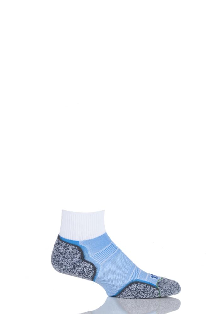 Mens 1 Pair 1000 Mile Breeze Double Layered Ankle Socks with Nilit Breeze Technology