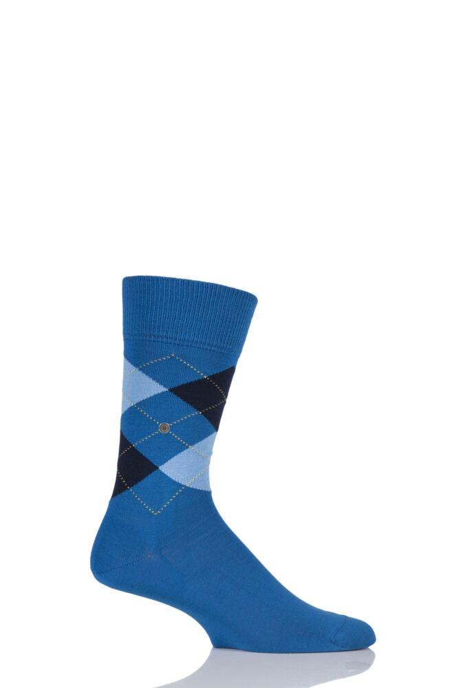 Mens 1 Pair Burlington Manchester Argyle Cotton Socks