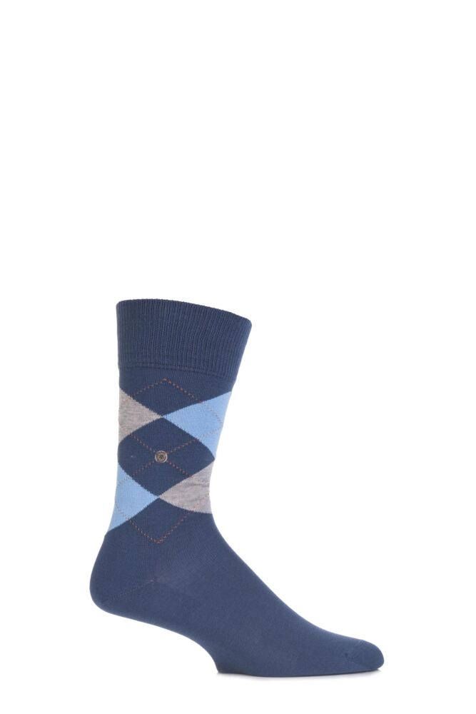 Mens 1 Pair Burlington Manchester Argyle Cotton Socks