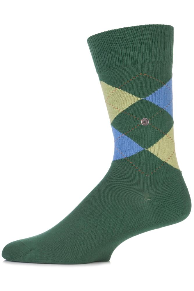 Mens 1 Pair Burlington Norfolk Cotton Mix Argyle Sock In 19 Colours