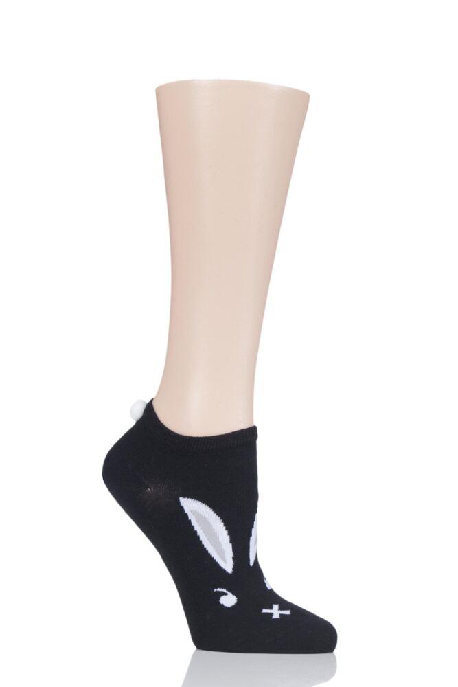 Ladies 1 Pair Burlington Easter Bunny Trainer Socks
