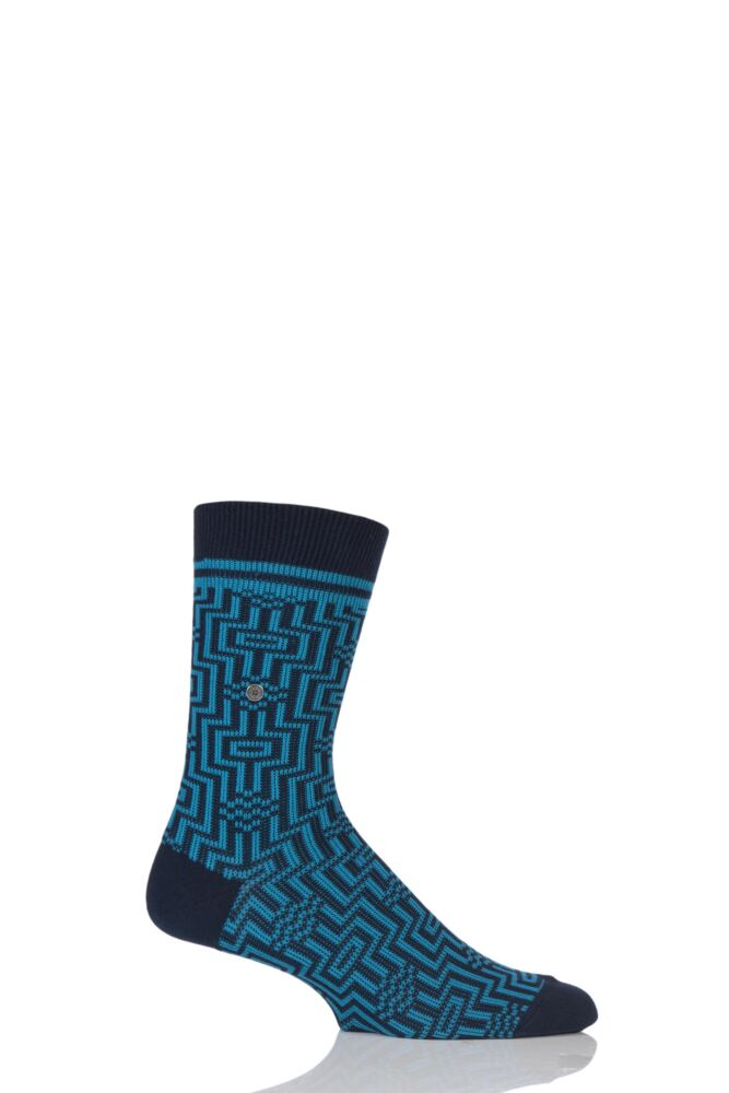 Mens 1 Pair Burlington Illusion Cotton Socks
