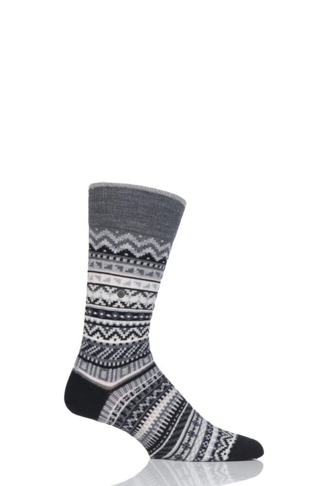Mens Burlington Fair Isle Virgin Wool Socks from SockShop