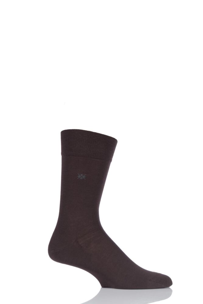 Mens 1 Pair Burlington Dublin Comfort Cotton Socks With Comfort Cuff
