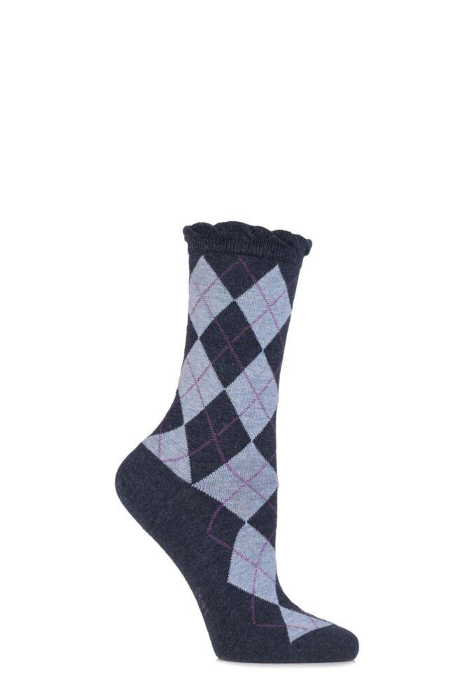 Ladies 1 Pair Burlington Ladywell Diamond Socks