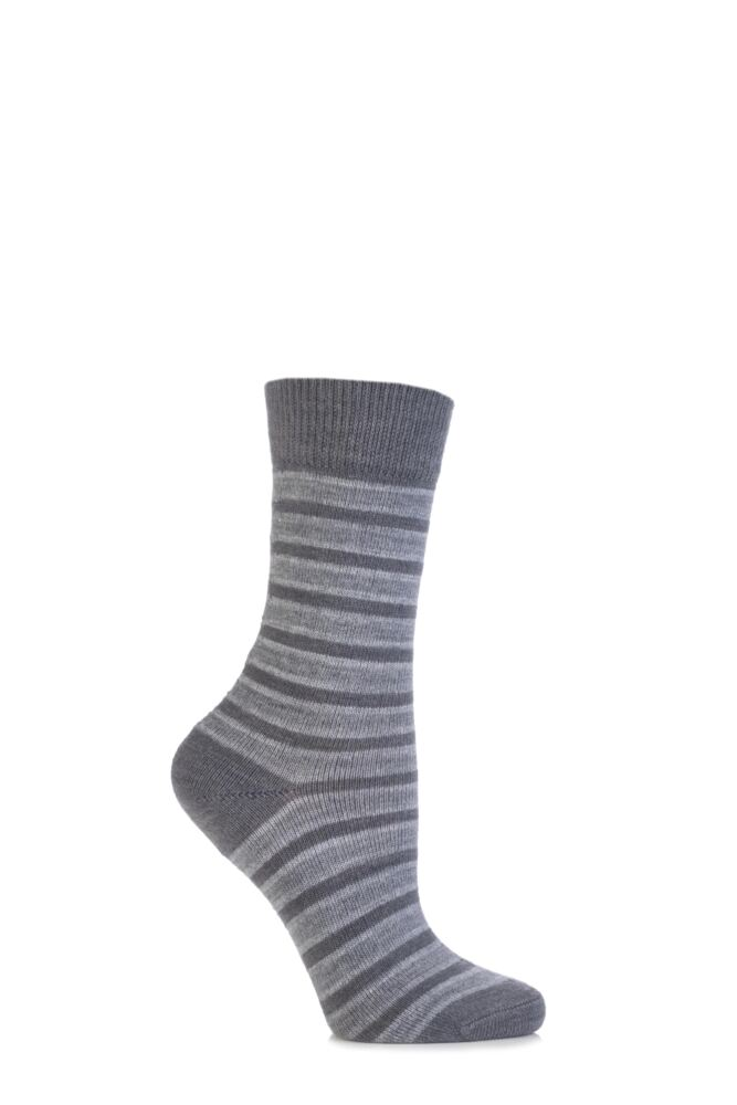 Ladies 1 Pair Burlington Seaford Extra Soft Mixed Stripe Socks 25% OFF