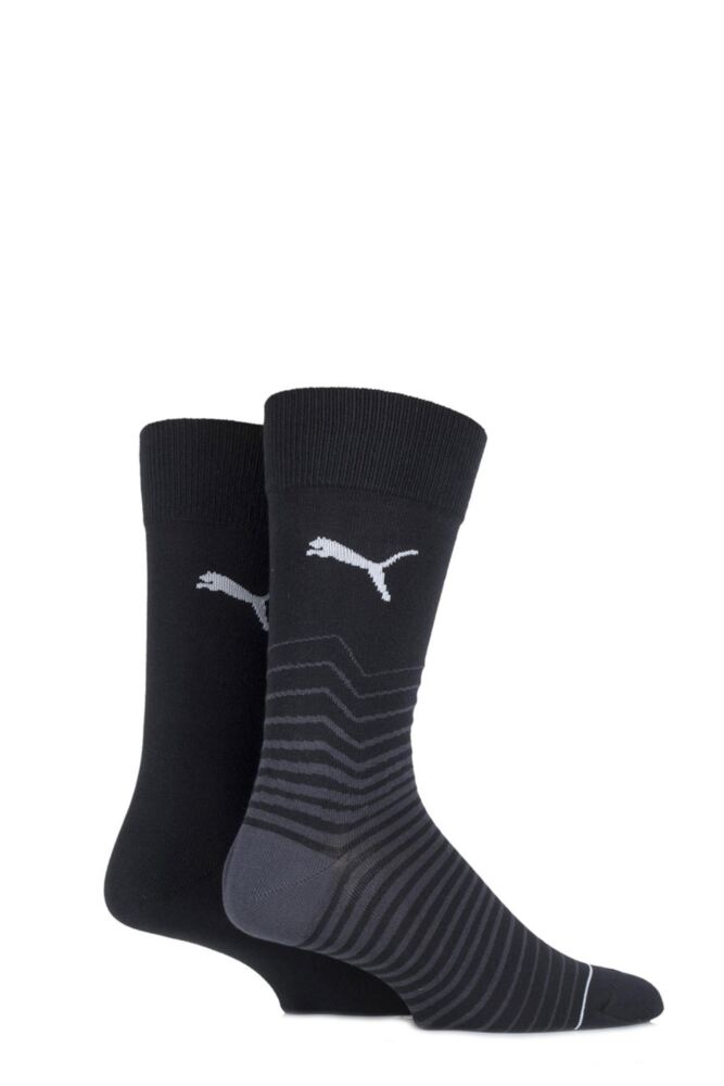 Mens 2 Pair Puma Fractured Striped Cotton Socks 25% OFF