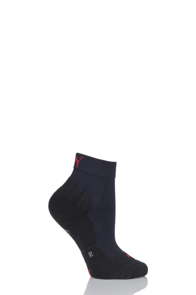 Ladies 1 Pair Puma Running Performance Quarter Length Socks