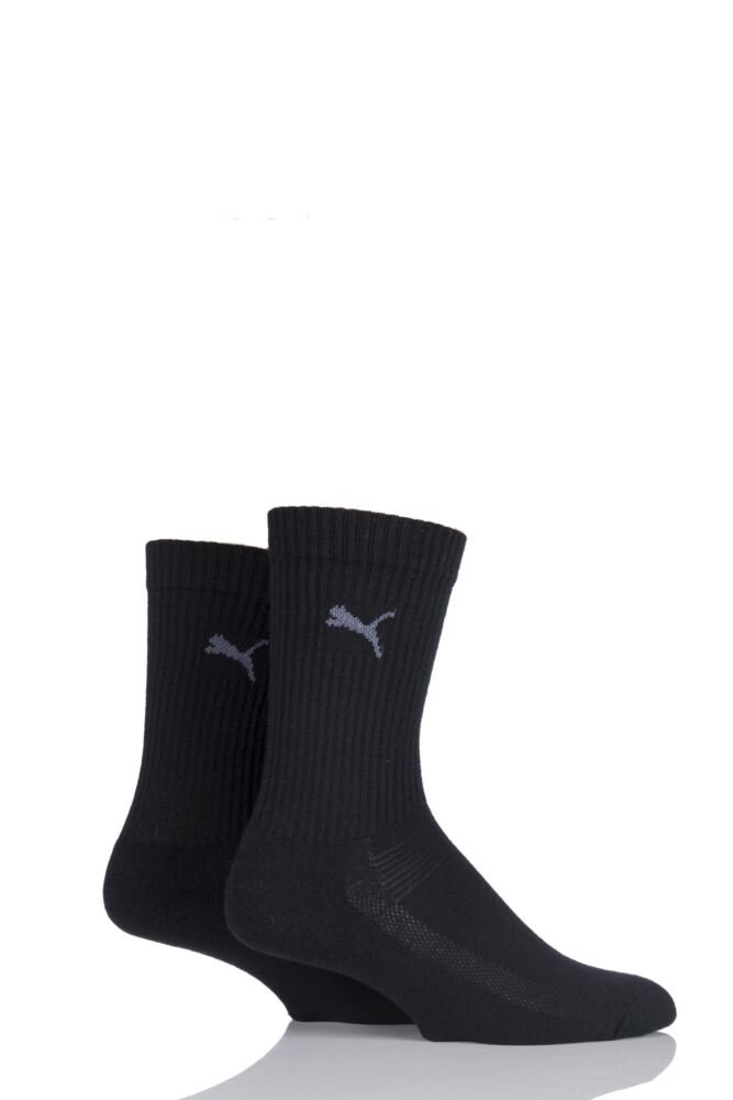 Mens and Ladies 2 Pair Puma Coolmax Technical Socks