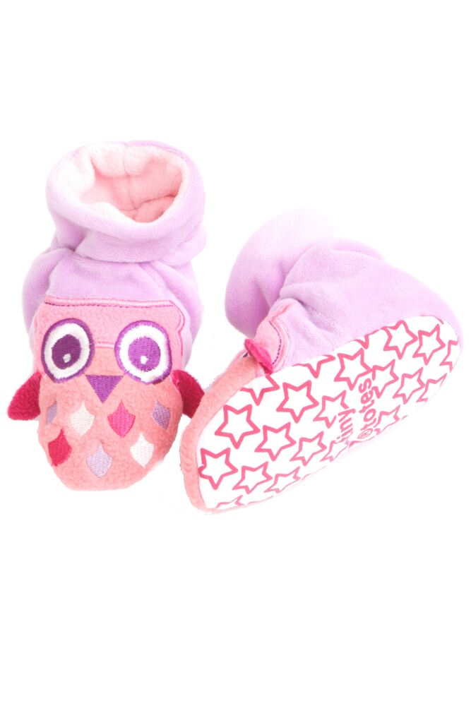 Girls 1 Pair Totes Tots Owl Slippers with Grip 25% OFF