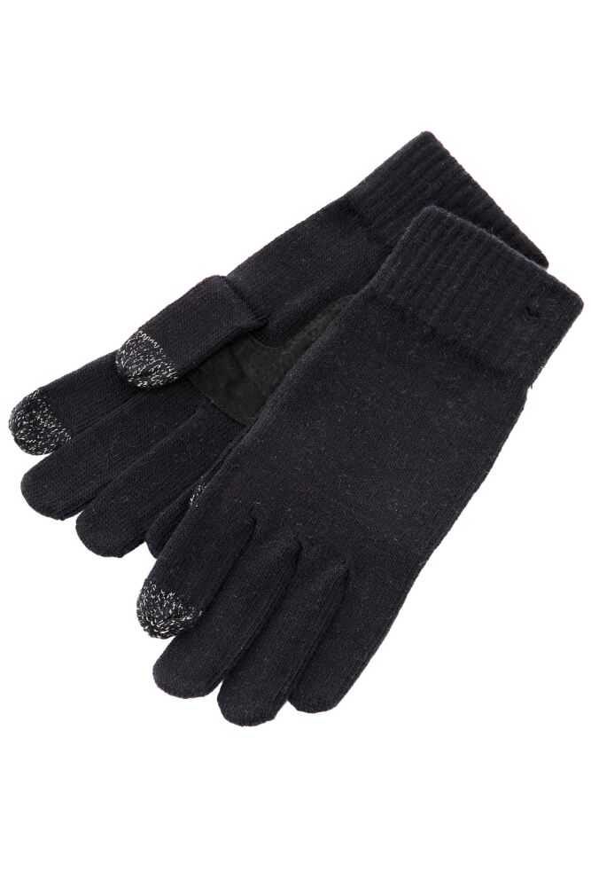 Ladies 1 Pair Isotoner Smartouch Plain Knit Gloves 33% OFF