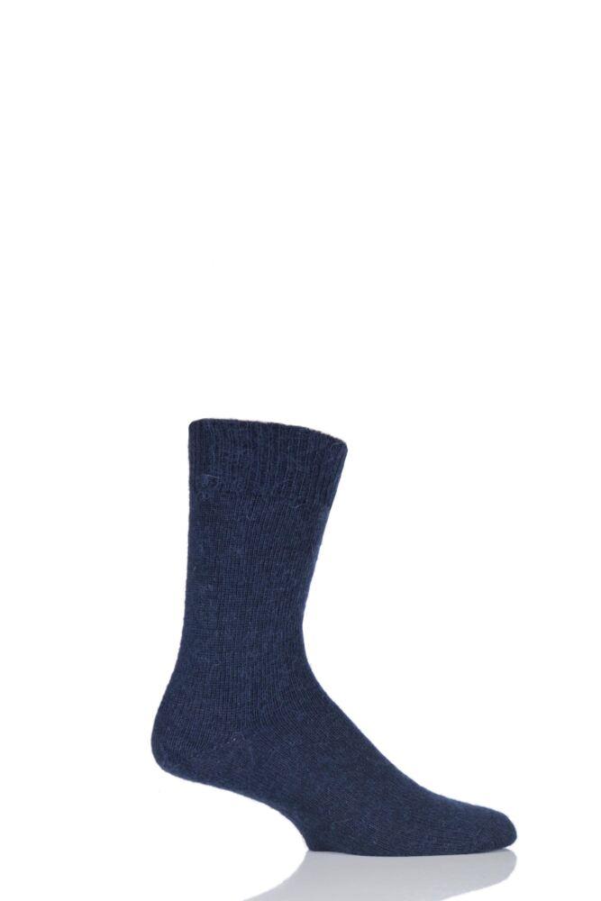 Mens and Ladies 1 Pair SockShop of London Mohair Plain Knit True Socks