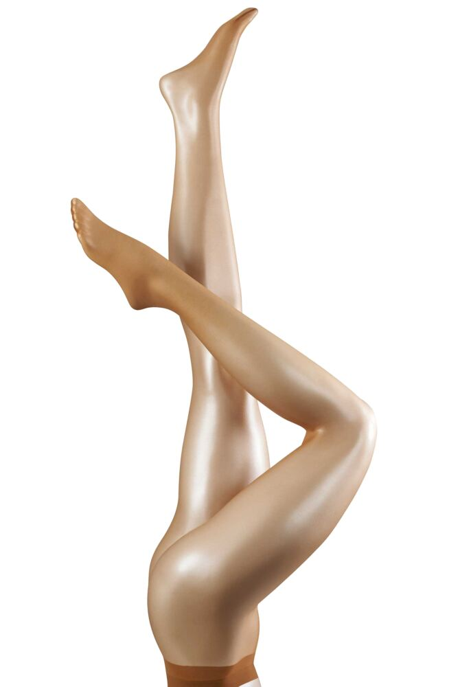Ladies 1 Pair Falke Shelina 12 Denier Ultra Transparent Tights With Shimmer