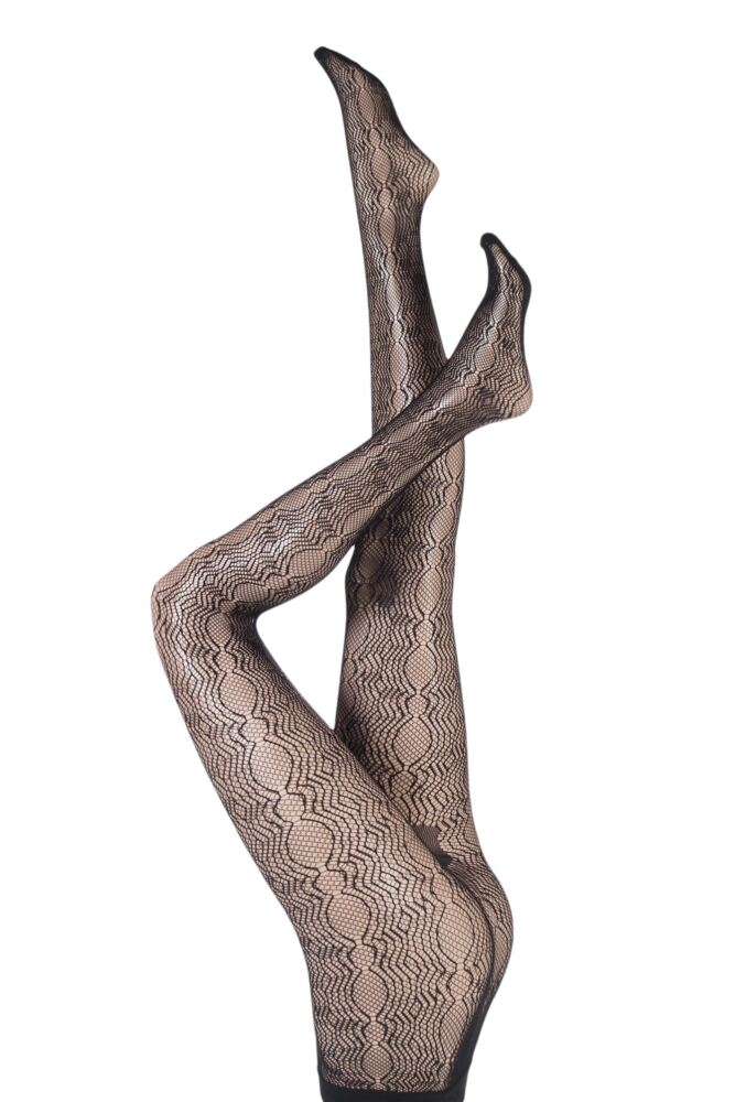 Ladies 1 Pair Falke Hourglass Wave Net Tights 25% OFF