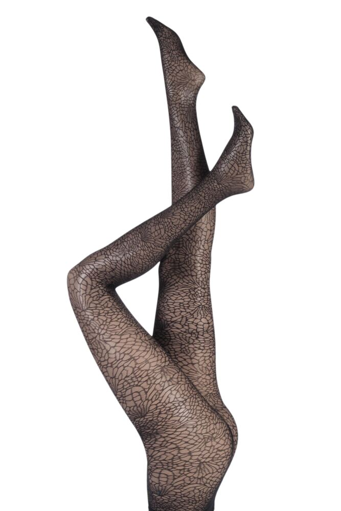 Ladies 1 Pair Falke Aphrodite Web Net Tights