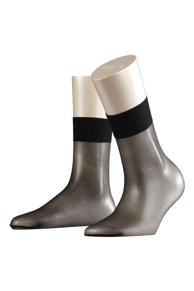 Ladies 1 Pair Falke Shelina 12 Denier Ultra Transparent Ankle Highs With Shimmer