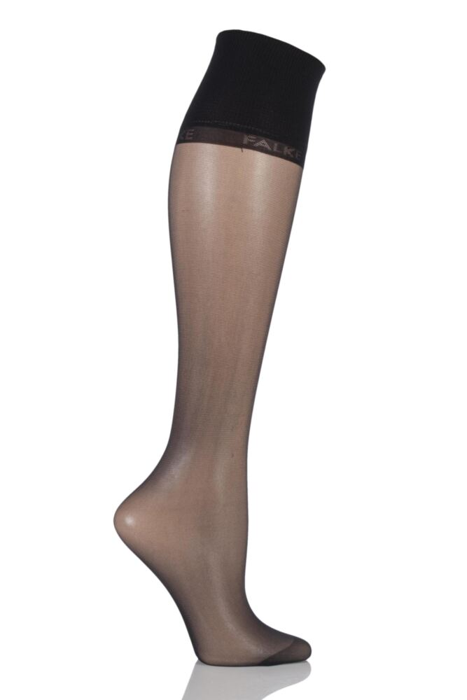 Ladies 1 Pair Falke Pure Matt 20 Knee Highs With Sensitive Top