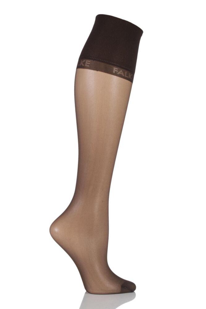 Ladies 1 Pair Falke Pure Matt 20 Knee Highs With Sensitive Top