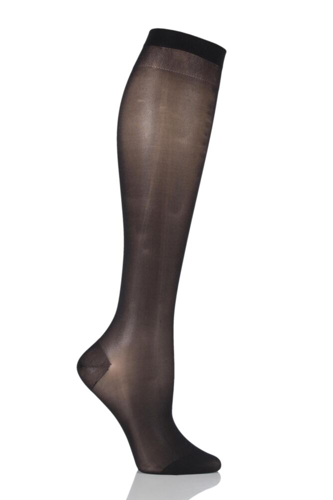 Ladies 1 Pair Falke 20 Denier Leg Vitalizer Knee Highs
