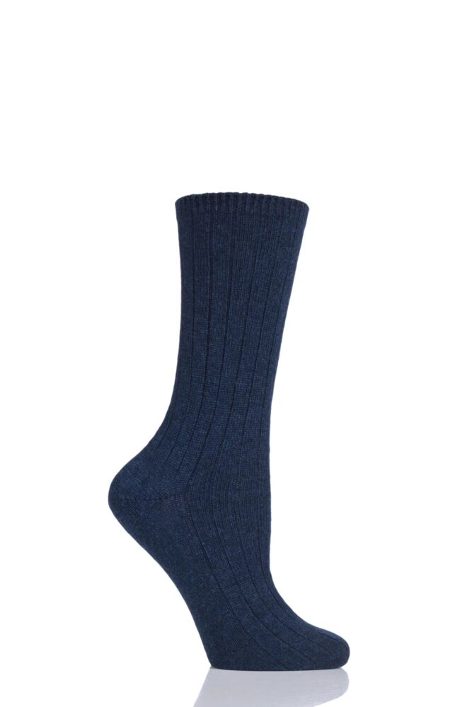 Ladies 1 Pair SockShop of London 100% Cashmere Bed Socks with Smooth Toe Seams