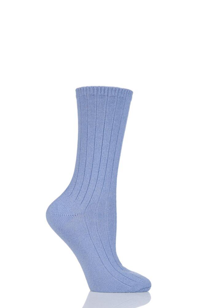 Ladies 1 Pair SockShop of London 100% Cashmere Bed Socks with Smooth Toe Seams