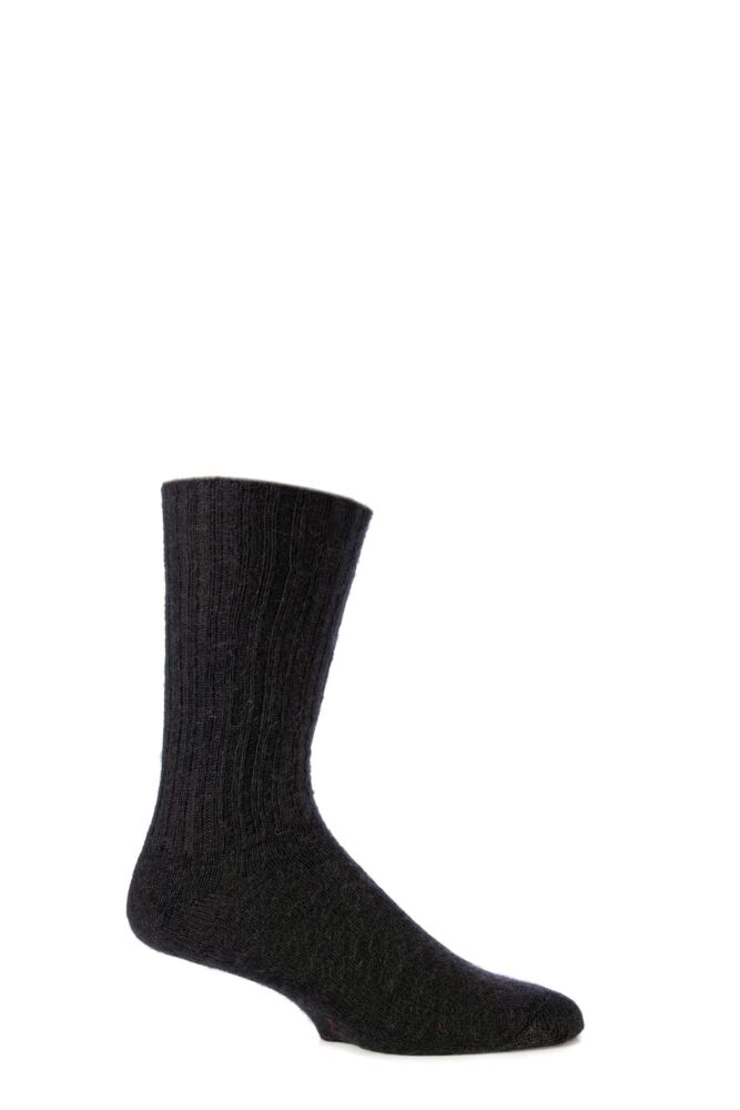 Mens and Ladies 1 Pair SockShop of London Mohair Ribbed Socks With Cushioning