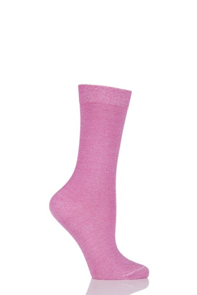 Ladies 1 Pair Falke Velveteen Cotton Socks
