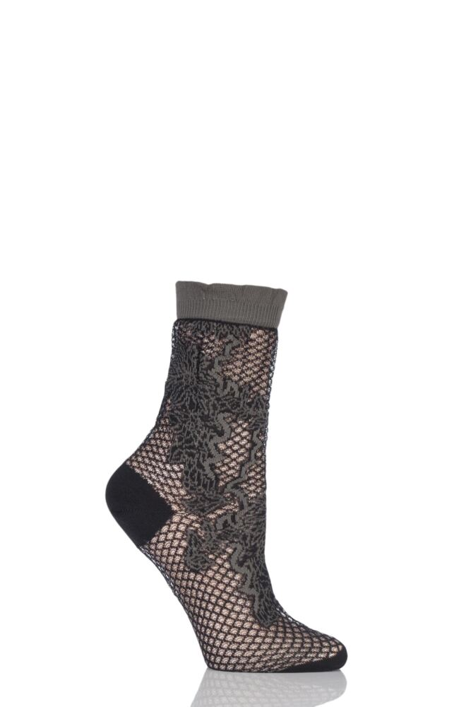 Ladies 1 Pair Falke Floral Patterned Lace Anklet Socks 25% OFF