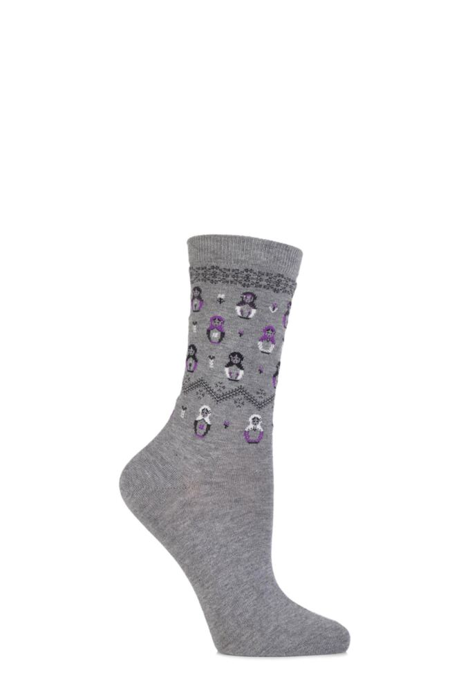 Ladies 1 Pair Falke Cotton Matryoshka Russian Doll Socks
