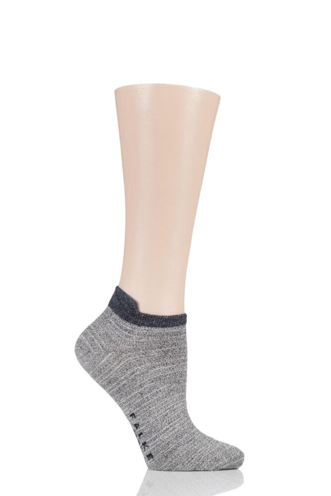 Ladies 1 Pair Falke Denim Addicted Cotton Trainer Socks