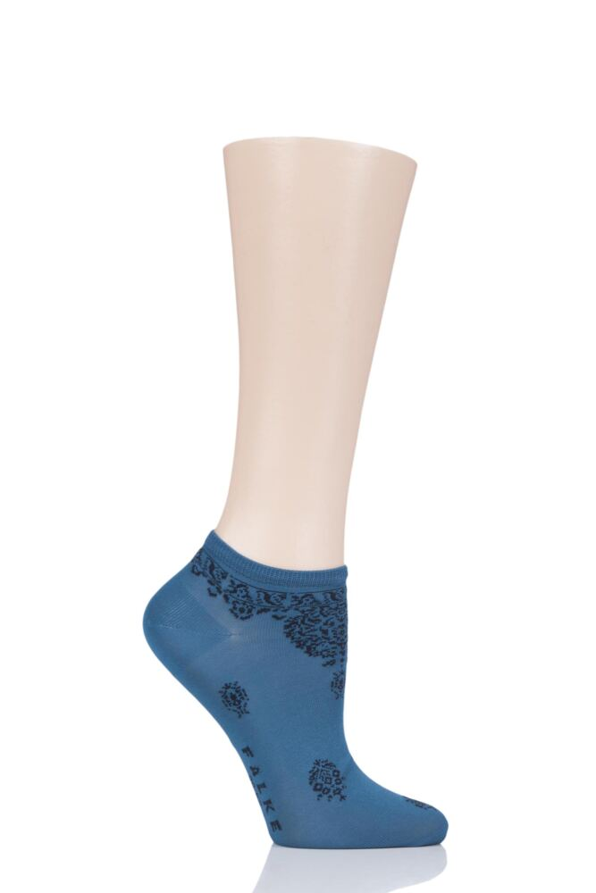 Ladies 1 Pair Falke Miniature Indian Print Cotton Trainer Socks