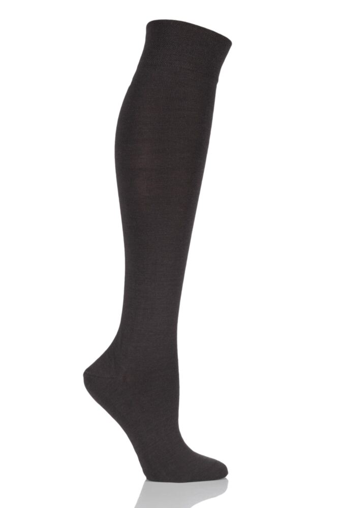 Ladies 1 Pair Falke Sensitive Berlin Merino Wool Left And Right Knee High Socks