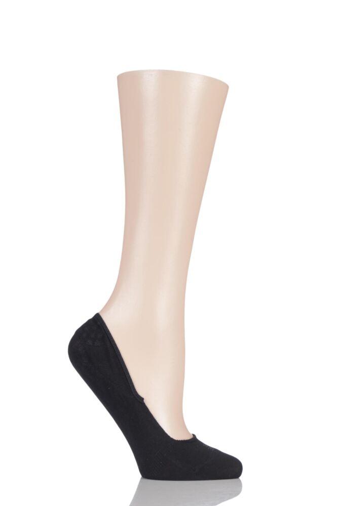 Ladies 1 Pair Falke Invisible Step 98% Cotton Shoe Liners
