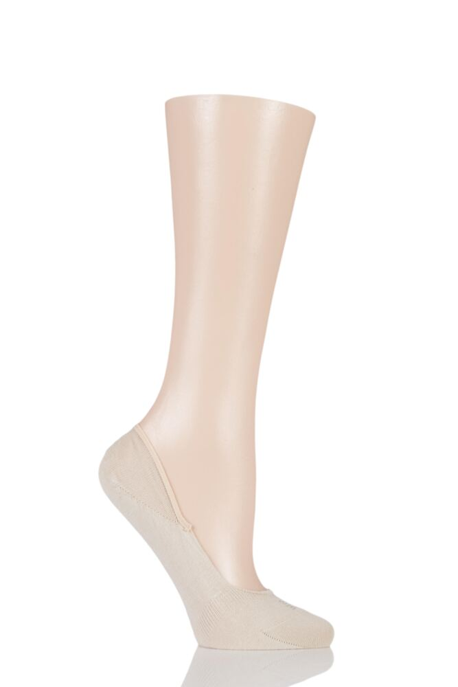 Ladies 1 Pair Falke Invisible Step Cotton Shoe Liners