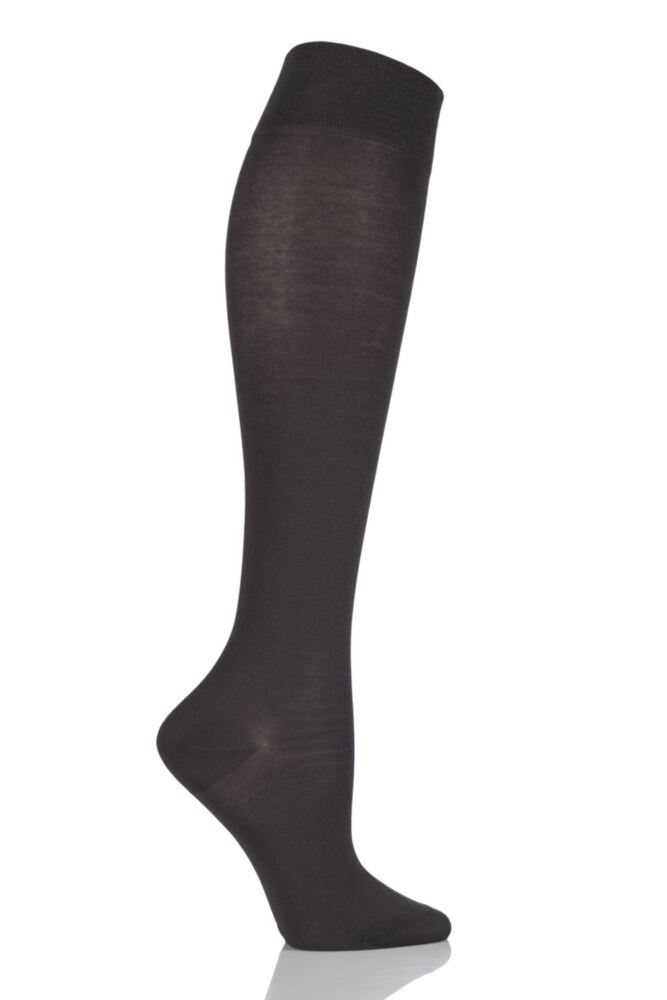 Ladies 1 Pair Falke Cotton Touch Knee High Socks