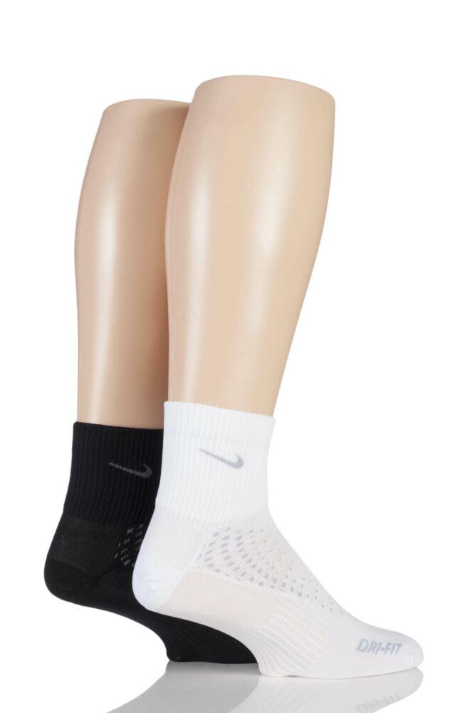 Mens and Ladies 2 Pair Nike Anti Blister Running Light Quarter Sock